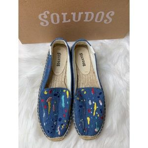 New soludos splatter paint shoes